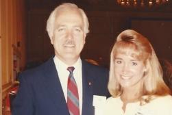 MTOA 1987-88 Jennifer Steele wit Dr. Leonard L. Bailey, transplant surgeon
