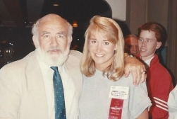 MTOA 1987-88 Jennifer Steele with 5 time Emmy Actor Ed Asner
