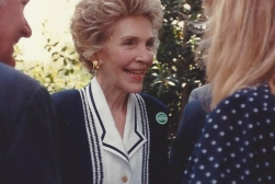 MTOA 1987-88 Jennifer Steele with Nancy Reagan