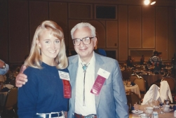 MTOA 1987-88 Jennifer Steele with Nobel Prize in Physics Dr. Murray Gell-mann