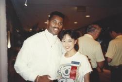 MTOA 1988-89 Maria Eguro with NFL Star Herschel Walker