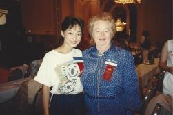 MTOA 1988-89 Maria Eguro with Nobel Prize in Medicine Winner Gertrude B. Elion