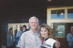 MTOA 1992-93 Macy Jarrett with Honorable William Sessions, Director of FBI